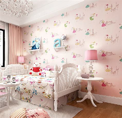 wallpaper for girls room aliexpress com buy modern cartoon dancing girl wallpaper