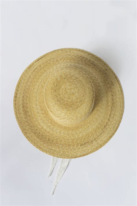 clyde straw hats clyde straw wide brim flat top hat garmentory