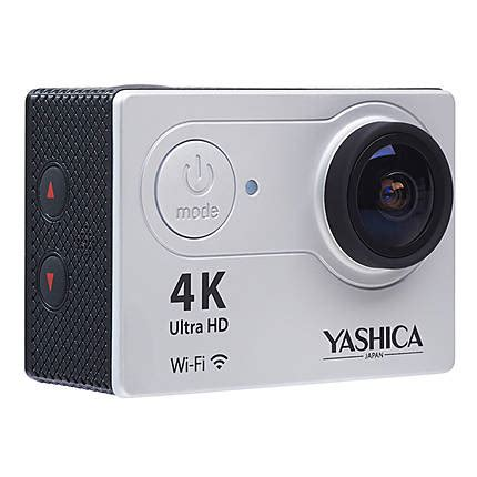 yashica yac 400 action camera with wi fi silver (4k