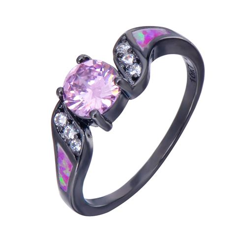 Black Sapphire 6 8 Ct 4 20 ct pink sapphire cz wedding ring pink opal 10kt