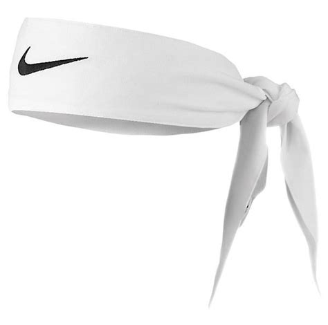 new womens nike tie dri fit 2 0 white headband tennis
