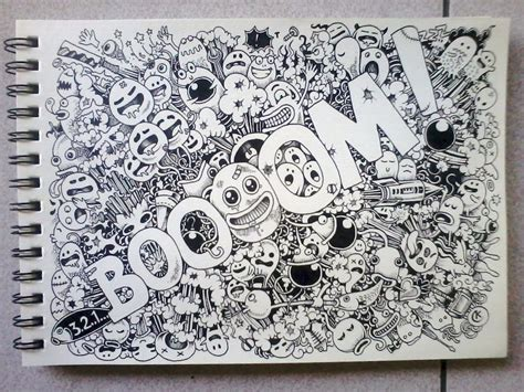how to draw a random doodle boooom doodles by kerbyrosanes on deviantart