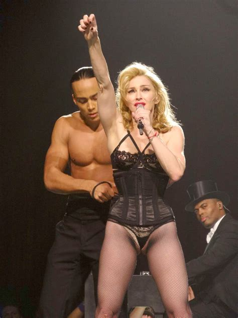 Beyonce Screws Dancers by Pic Madonna Wardrobe Malfunction Exposes Crotch In