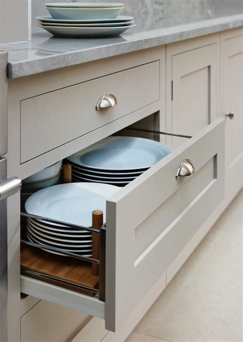 Pan Drawers by Plate Storage Within A Wide Pan Drawer Harveyjones