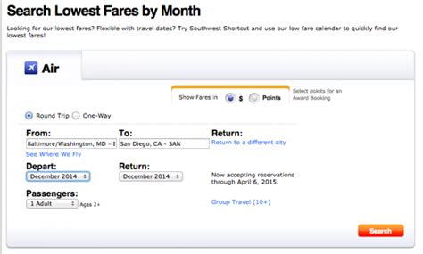Low Fare Calendar Search Results For Southwest Low Fare Calendar