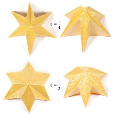6 Pointed Origami - how to make a six pointed easy embossed origami http origami juxtapost
