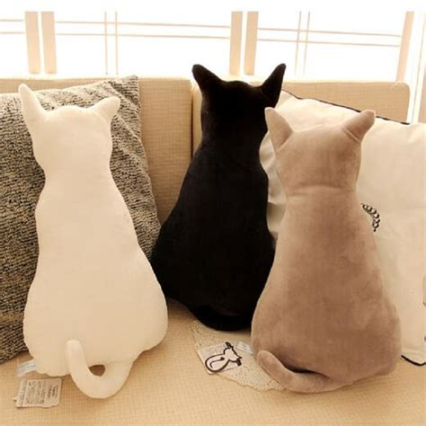 stuffed cat pillow kcasa kc soft plush cat back sofa pillow
