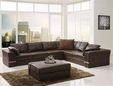 brown leather sofa decor 25 leather sectional sofa design ideas eva furniture