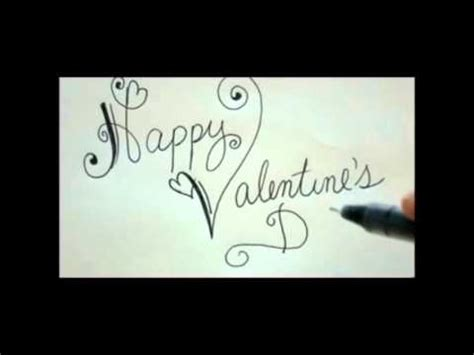 happy valentines day fancy writing happy valentines day diy card easy fancy writing