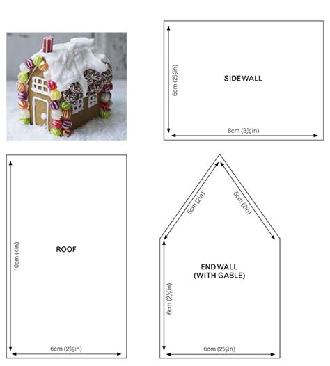 gingerbread house card template make your own gingerbread house kit gifts