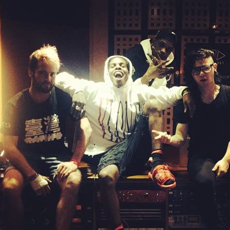 skrillex asap rocky skrillex asap rocky and what so not spotted in the studio