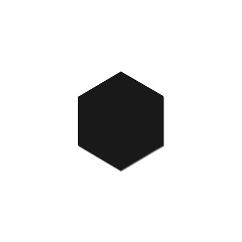 Hexagon matt black 17 5cm x 20cm wall amp floor tile