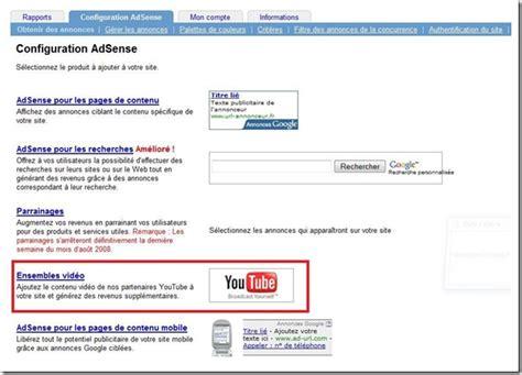 Adsense In Youtube | adsense youtube adsense d 233 barque sur youtube