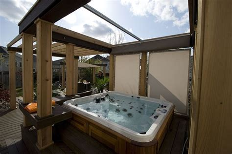hot tub retractable awning 50 best hot tubs images on pinterest bubble baths hot