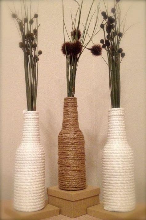 Handmade Modern - handmade modern country chic nautical rope wrapped glass