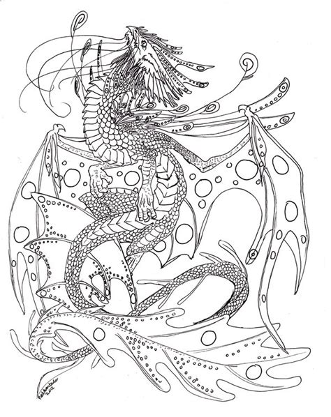 water dragon lineart version 1 by redaventador on deviantart