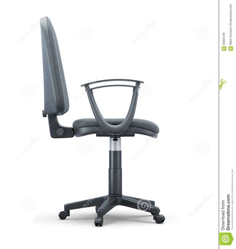 chair side view vector office chair side view on a white stock illustration
