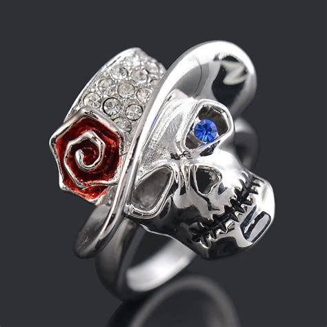 High Quality Skull Ring aliexpress buy s skull rings high quality plated luxury drilling crystals