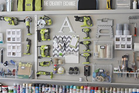 photo wall layout tool organizing the garage with diy pegboard storage wall