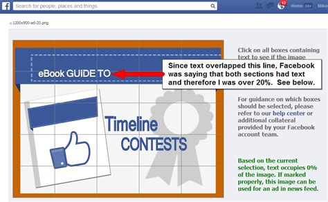 fb grid tool facebook ad link and photo post 20 percent text templates