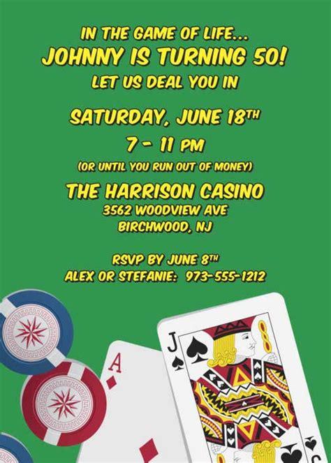 Casino Birthday Party Invitations Ideas Bagvania Free Printable Invitation Template Casino Birthday Invitation Templates