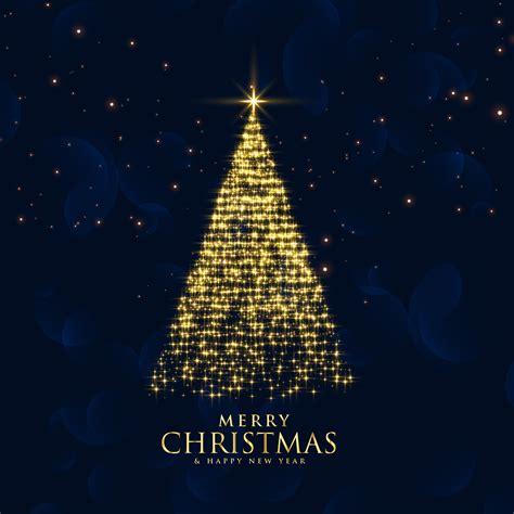 shiny glitter sparkles creative christmas tree design   vector art stock graphics