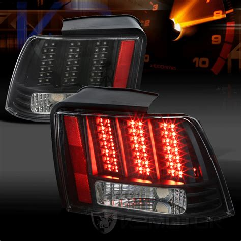 2004 mustang tail lights 1999 2004 ford mustang led sequential black clear tail lights