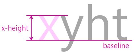 typography x height don t code tired anatomy of type baseline and x height
