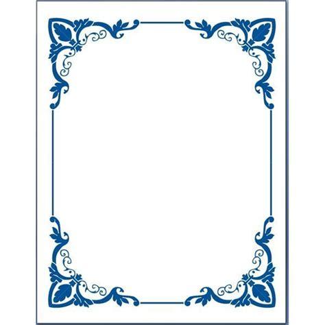 Blus Bordir Rafael 2 blue flower borders for word document 5 page border clipart free desktop blue