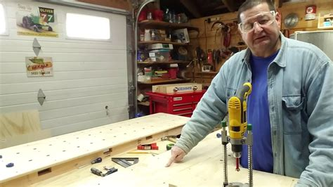 drilling bench dog holes drilling workbench dog holes using a simple alignment