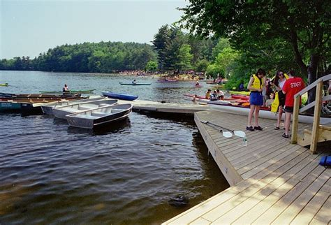 our dock in lake cochituate state park is near the picnic - Boating In Boston Lake Cochituate