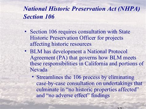 section 106 national historic preservation act permitting geothermal exploration and development projects
