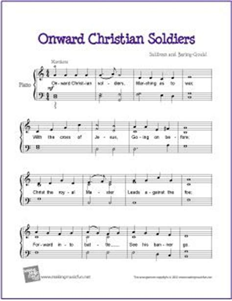 keyboard tutorial for christian songs christian soldiers sheet music for piano and sheet music