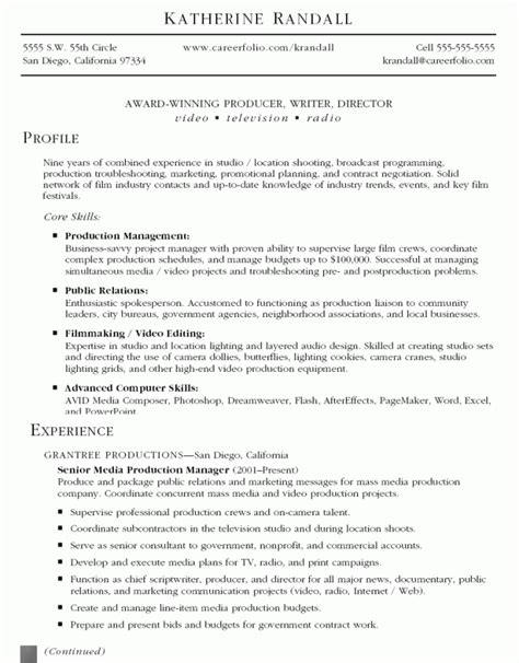 Food Production Supervisor Resume by Production Supervisor Resume Format Resume Sle