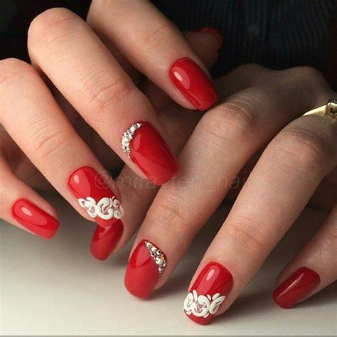 easy nail art red маникюр дизайн ногтей art simple nail идеи маникюра