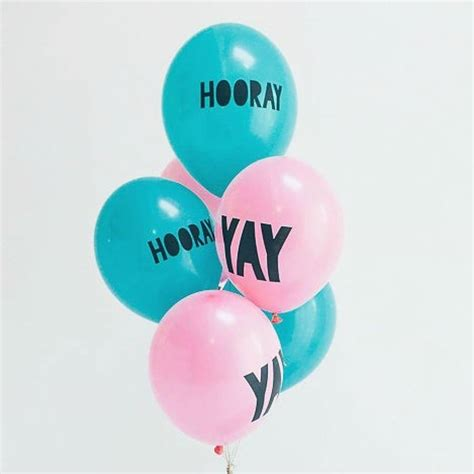 Hooray teal balloons by pink biscuits notonthehighstreet com