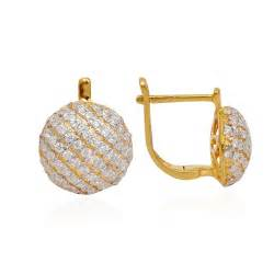 gold ear ring image try it matt finish gold earring with stones grt jewellers