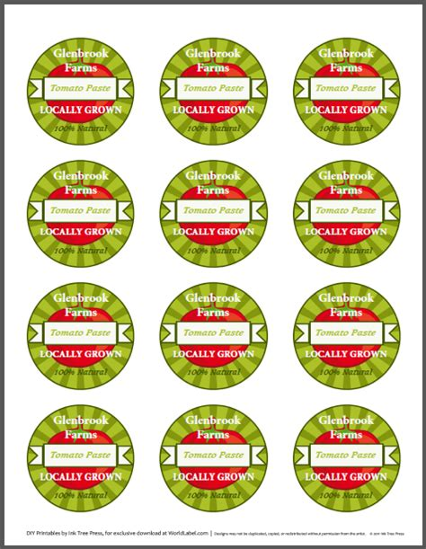 chutney label templates tomato canning jars labels for your farmers market stand