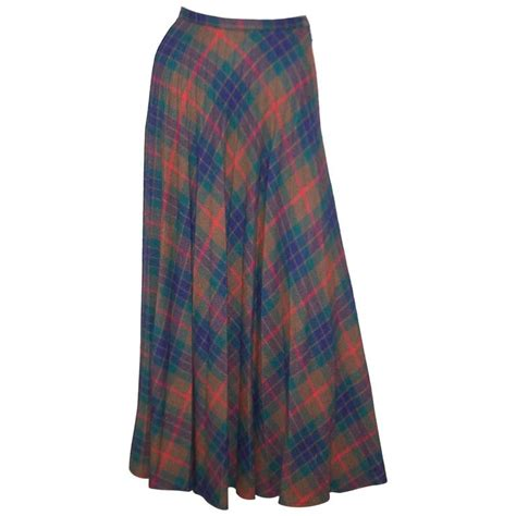 mad for plaid 1970 s wool micro pleated maxi skirt for