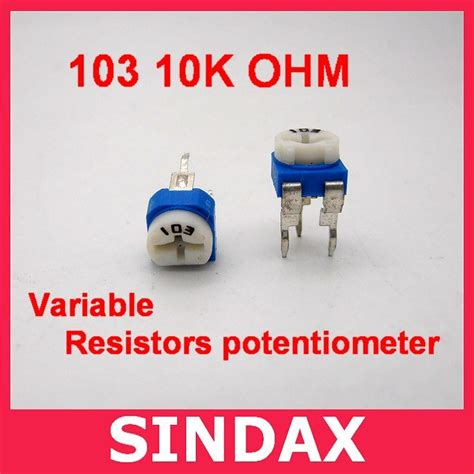10k variable resistor 103 1 4w horizontal miniature potentiometer wholesale wholesale 1 4w horizontal miniature