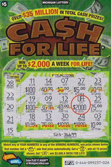 Winning Instant Lottery Tickets - 20 year old michigan lottery player wins 2 000 a week with cash for life game