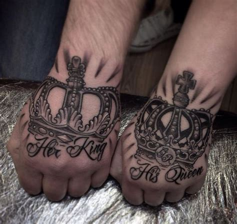 king and queen hand tattoos 165 top king and tattoos for couples 2018