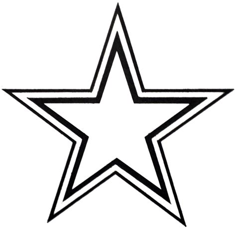 double outline star clipart best