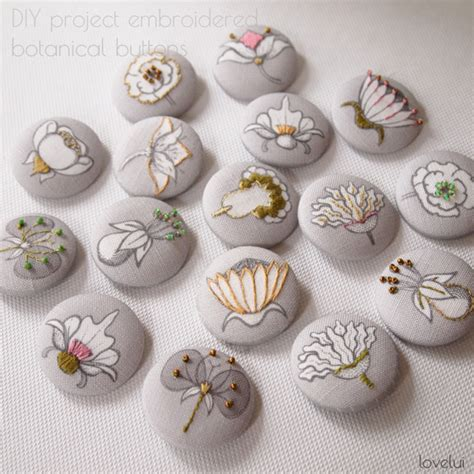 diy projects with buttons lovelui embroidered buttons diy project