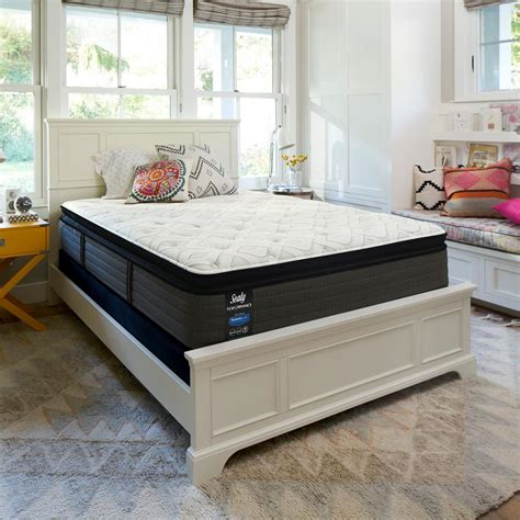 top king flooring sealy response performance 14 in california king cushion firm pillow top mattress 52306762