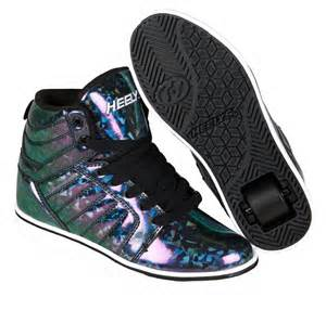 Heelys uptown hi tops shoes black hologram ebay
