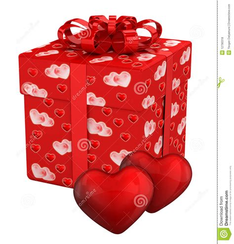 day present gift box for s day presents stock illustration
