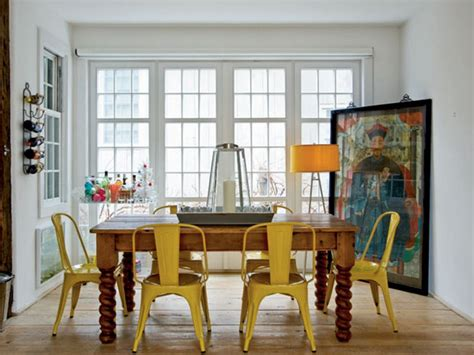 go eclectic and chic in the dining room
