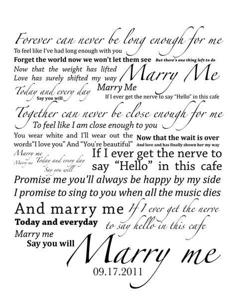 Best 20  Marry me lyrics ideas on Pinterest