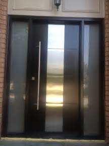 Modern Glass Front Door Modern Contemporary Front Entry Door Frosted Glass And Steel Plate Modern Exterior Front Door